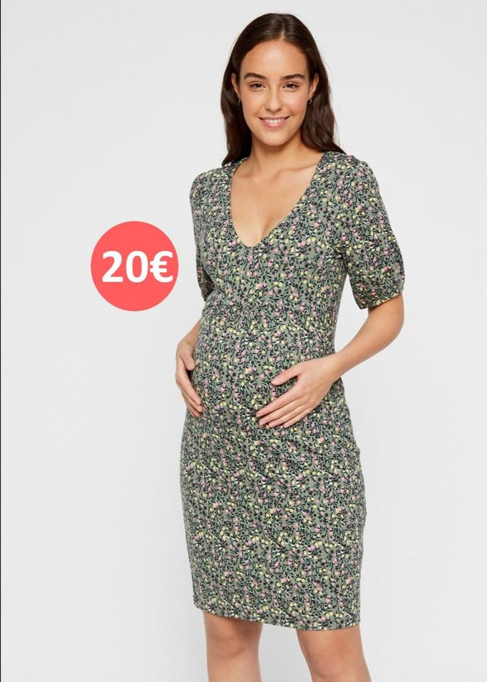 Maternity dress flower print